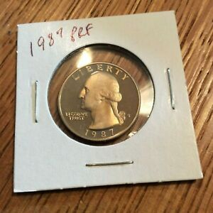 1987 WASHINGTON QUARTER CLAD PROOF FROM COMPLETE US PROOF SET