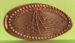 THE MYSTERY SPOT SAILBOAT PRESSED ELONGATED PENNY RETIRED