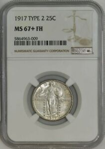 Click now to see the BUY IT NOW Price! 1917 TYPE 2 STANDING LIBERTY QUARTER 25C MS67  FH NGC 943077 6