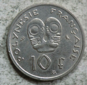 FRENCH POLYNESIA 1972 10 FRANCS COIN