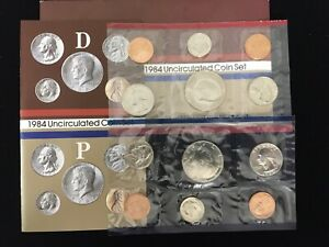 1984 P&D 10 COIN UNCIRCULATED MINT SET IN ORIGINAL US MINT PACKAGING