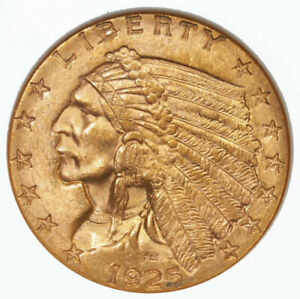 1925 D INDIAN $2.50 NGC CERTIFIED MS63 DENVER MINT GOLD COIN