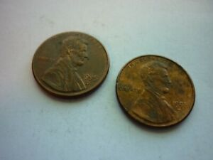 1995 D LINCOLN MEMORIAL PENNIES  2  ONE CENT COINS SOME SHEEN LIFE IN PIGGY BANK