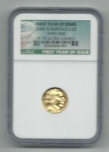 2008 W GOLD $5 BUFFALO NGC PF70 ULTRA CAMEO   FIRST YEAR OF ISSUE