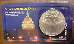 2000 AMERICAN SILVER EAGLE DOLLAR FINE SILVER UNC IN LITTLETON COIN SEALED PACK.