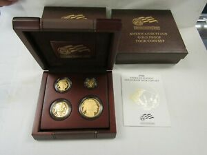 Click now to see the BUY IT NOW Price! 2008 W PROOF 1.85 OZ AMERICAN BUFFALO GOLD 4 COIN SET 1 1/2 1/4 1/10OZ COINS OGP