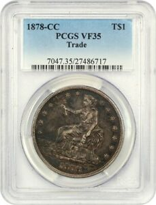 1878 CC TRADE$ PCGS VF35    CC MINT ISSUE   US TRADE DOLLAR