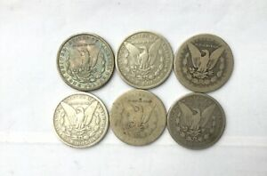 Click now to see the BUY IT NOW Price! 1879 S   1896 P MORGAN SILVER DOLLARS LOT OF 6 CULL COINS ALL WITH ISSUES
