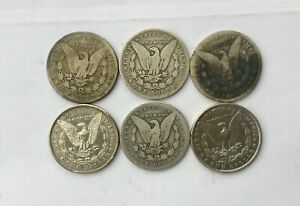 Click now to see the BUY IT NOW Price! 1880 S   1901 O MORGAN SILVER DOLLARS LOT OF 6 CULL COINS ALL WITH ISSUES