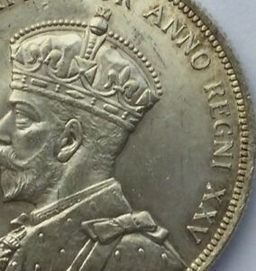 Click now to see the BUY IT NOW Price! CANADA 1935 GEORGE V PLEASING LUSTROUS DOLLAR DOUBLED LEGEND & DIE BREAK OBVERSE