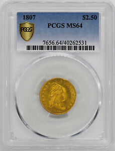 Click now to see the BUY IT NOW Price! 1807 DRAPED BUST $2.5 PCGS MS 64