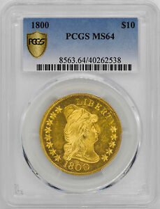 1800 DRAPED BUST $10 PCGS MS 64