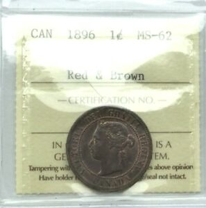 CANADA 1896 LARGE CENT ICCS  MS62  RED BROWN NICE  LUSTRE & COLOUR SUPERB STRIKE
