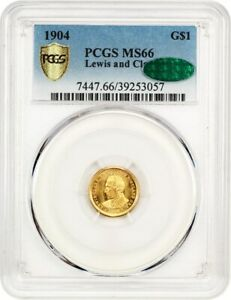 1904 LEWIS & CLARK G$1 PCGS/CAC MS66   KEY DATE GOLD COMMEM   LOOKS PROOFLIKE