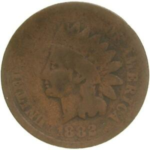 1882 INDIAN HEAD CENT ABOUT GOOD PENNY AG