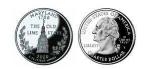 2000 P MARYLAND STATE QUARTER THE OLD LINE STATE.