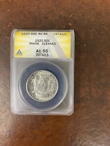 1920 MAINE CENTENNIAL HALF DOLLAR SILVER COMMEMORATIVE