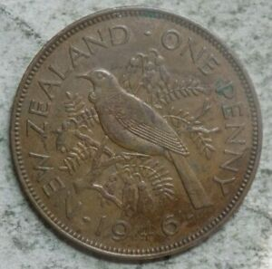 NEW ZEALAND 1946 1 PENNY COIN