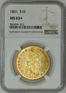 1801 $10 GOLD CAPPED BUST MS63  NGC 942609 1