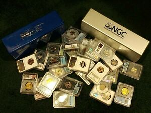 ONE  1  SLAB RANDOM LOT OF A PCGS NGC ANACS OR ICG GRADED COIN