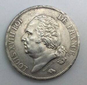 Click now to see the BUY IT NOW Price! 1817 A  FRANCE 5 FRANCS LOUIS XVIII SILVER COIN EXCELLENT  LOVELY  TONE LUSTRE