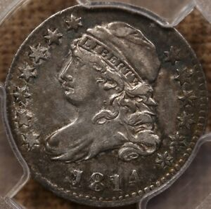 1814 JR 3 LARGE DATE BUST DIME PCGS VF35 CRUSTY AND CHOICE DAVIDKAHNCOINS