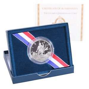 1992 COLUMBUS QUINCENTENARY PROOF COMMEMORATIVE CN CLAD HALF OGP