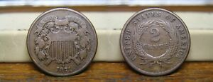 1871 TWO CENT PIECE US COIN