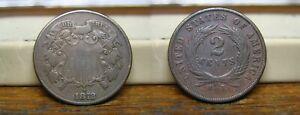 1872 TWO CENT PIECE US COIN