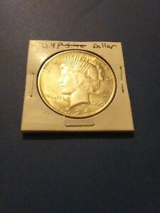 1924 P PEACE DOLLAR 90  SILVER CIRCULATED