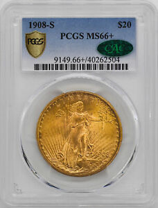 Click now to see the BUY IT NOW Price! 1908 S ST. GAUDENS $20 PCGS MS 66