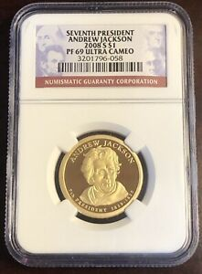 2008 S $1 NGC PF69 ULTRA CAMEO PRESIDENTIAL DOLLAR COINANDREW JACKSON