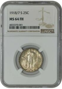 Click now to see the BUY IT NOW Price! 1918/7 S STANDING LIBERTY QUARTER 25C MS64 FH NGC 942870 2