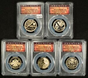 Click now to see the BUY IT NOW Price! 2019 S AMERICAN INNOVATION $1 DOLLAR 5 COIN SET   PREMIER PCGS PR 70   Y1617