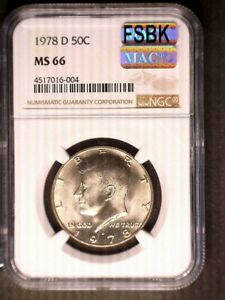 Click now to see the BUY IT NOW Price! 1978 D KENNEDY HALF DOLLAR NGC MS66 PQ MAC SPOTLESS FSBK SPOT PROBLEM FREE NICE