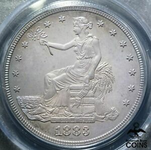 1883 UNITED STATES PROOF TRADE DOLLAR 90  SILVER COIN PCGS PR65