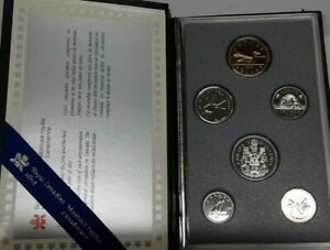 1988 CANADA PROOF SET 6 GEM COINS IN LEATHER CASE WITH COA FROM THE RCM