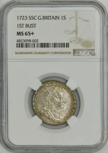Click now to see the BUY IT NOW Price! 1723 SSC GREAT BRITAIN 1 SHILLING 1ST BUST MS65  NGC 943596 24