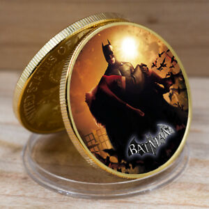 GOLD COIN BATMAN COINS COLLECTIBLES EAGLE BACK CHALLENGE COIN FOR COLLECTION