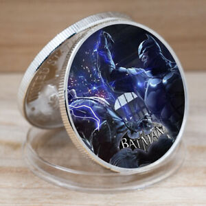 SILVER COIN BATMAN COINS COLLECTIBLES EAGLE BACK CHALLENGE COIN FOR COLLECTION