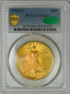 Click now to see the BUY IT NOW Price! 1924 S $20 ST. GAUDENS MS64  PCGS SECURE CAC 943559 10