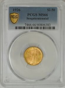1926 $2 1/2 GOLD SESQUICENTENNIAL $2.5 MS66 PCGS SECURE 943586 13