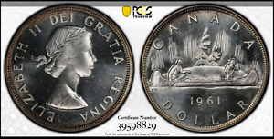 Click now to see the BUY IT NOW Price! :1961 S1$ DOLLAR ELIZABETH II CANADA KM54 LOW POP  NGC MS 66 HIGHEST GRADES