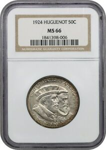 Click now to see the BUY IT NOW Price! 1924 HUGUENOT 50C NGC MS66   SILVER CLASSIC COMMEMORATIVE