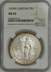 Click now to see the BUY IT NOW Price! 1929B GREAT BRITAIN TRADE DOLLAR $ PRID 26 MS65 NGC 943496 21