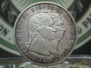 1900 LAFAYETTE COMMEMORATIVE SILVER DOLLAR $1 2  EAST COAST COIN & COLLECTABLES
