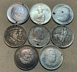 1920 1922 1924 1925 COMMEMORATIVE LOT GRANT PILGRIM HUGUENOT SESQU HOLED CULLS