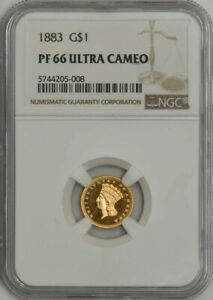 Click now to see the BUY IT NOW Price! 1883 $ GOLD INDIAN DOLLAR PF66 PR66 ULTRA CAMEO NGC 943619 2