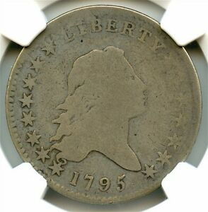 1795 FLOWING HAIR LIBERTY SILVER HALF DOLLAR NGC G 04 2 LEAVES NICE COIN