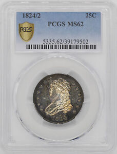 Click now to see the BUY IT NOW Price! 1824/2 CAPPED BUST 25C PCGS MS 62